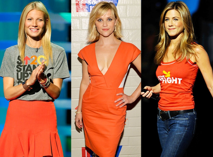 Gwyneth Paltrow, Reese Witherspoon, Jennifer Aniston, Stand Up 2 Cancer