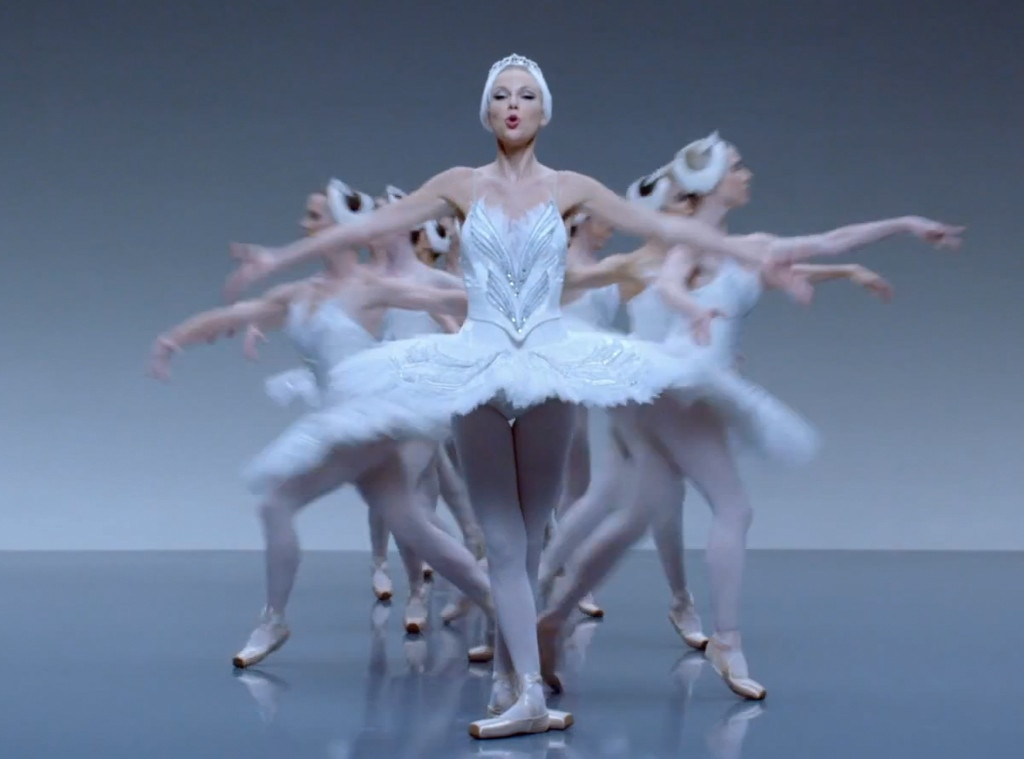 white swan from taylor swifts shake it off style