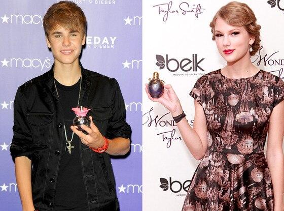 Justin Bieber, Taylor Swift, Perfume