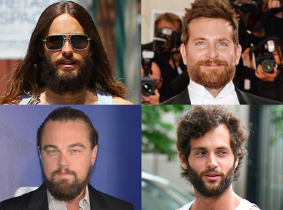 Beards, Jared Leto, Bradley Cooper, Leonardo DiCaprio, Penn Badgley