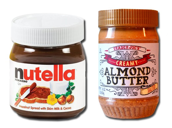 Nutella, Trader Joe's Almond Butter