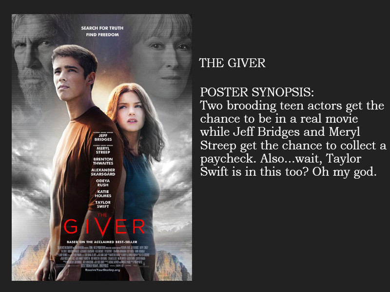 the giver from movie plot synopsis based completely on the