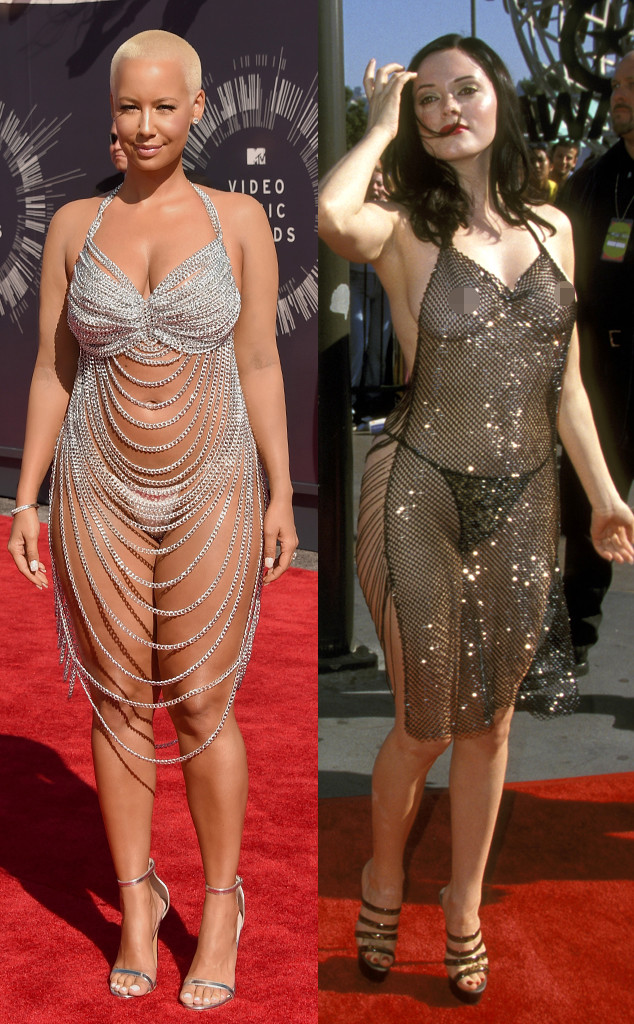 Amber Rose Is Practically Naked In 2014 Mtv Vmas Dress