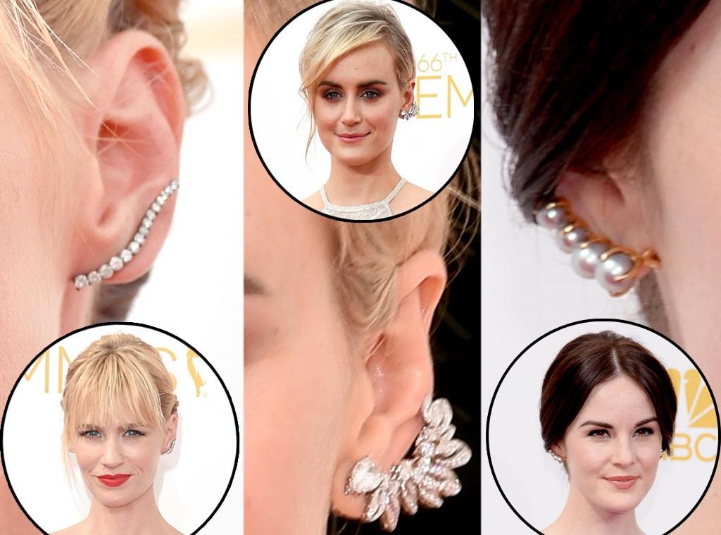 Ear Cuffs: January Jones, Taylor Schilling, Michelle Dockery, Emmy Awards 2014