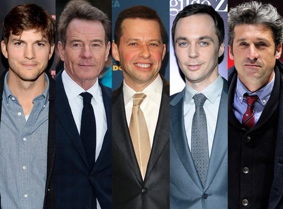 Ashton Kutcher, Bryan Cranston, Jon Cryer, Jim Parsons, Patrick Dempsey