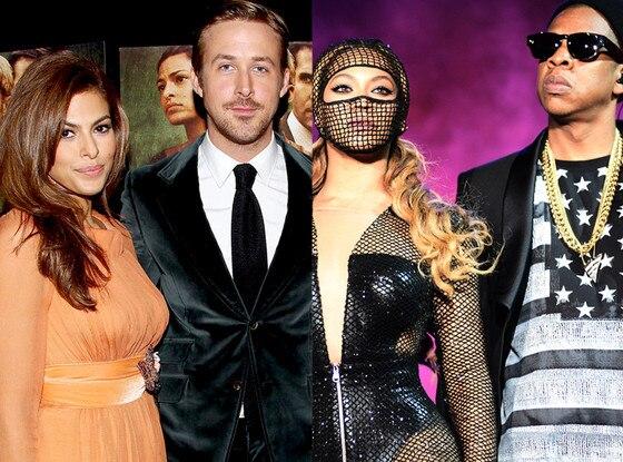 Beyonce, Jay-Z, Ryan Gosling Eva Mendes