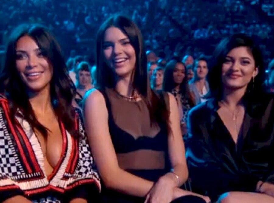Kim Kardashian. Kylie Jenner, Kendall Jenner