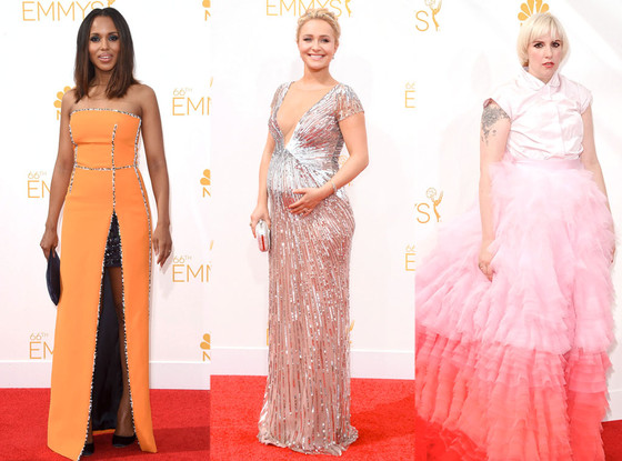 Kerry Washington, Hayden Panetierre, Lena Dunham, Emmy Awards 2014