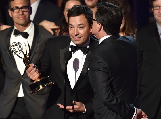 Jimmy Fallon, Stephen Colbert, Emmy Awards 2014 Show