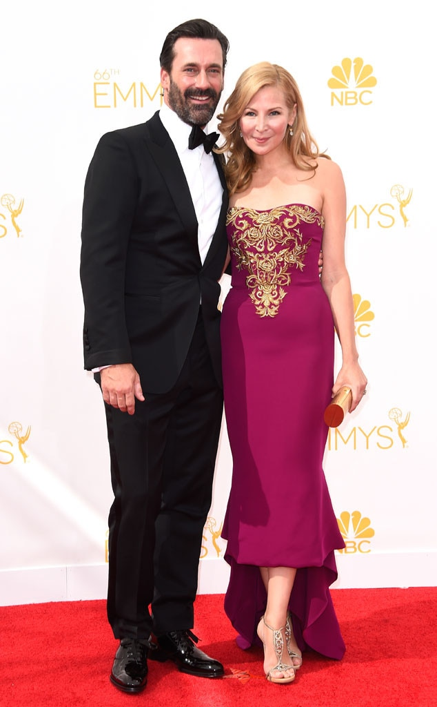 Jon Hamm, Jennifer Westfeldt, Emmy Awards 2014