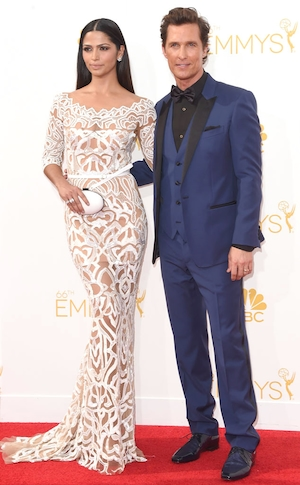 Matthew McConaughey, Camila Alves, Emmy Awards 2014