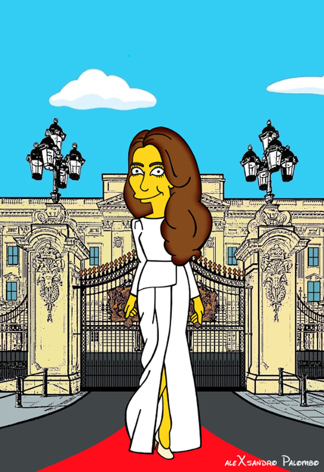 Kate Middleton Simpsonized