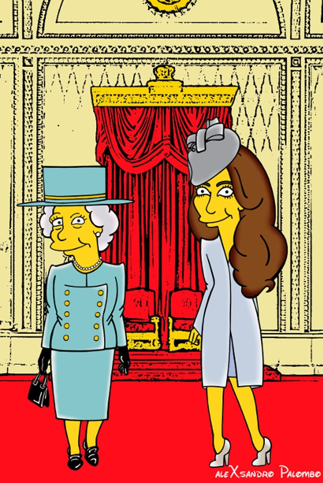 Kate Middleton Simpsonized