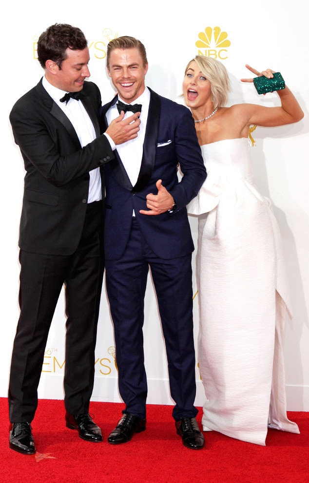 Julianne Hough, Jimmy Fallon, Derek Hough, Emmy, Candids