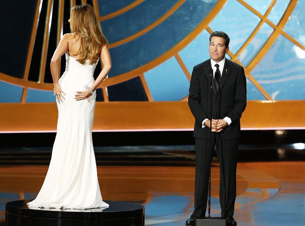 Sofia Vergara, Bruce Rosenblum, 2014 Emmy's, On Stage