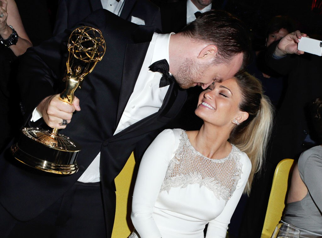Aaron Paul, Lauren Parsekian, 2014 Emmy's, Party Pics