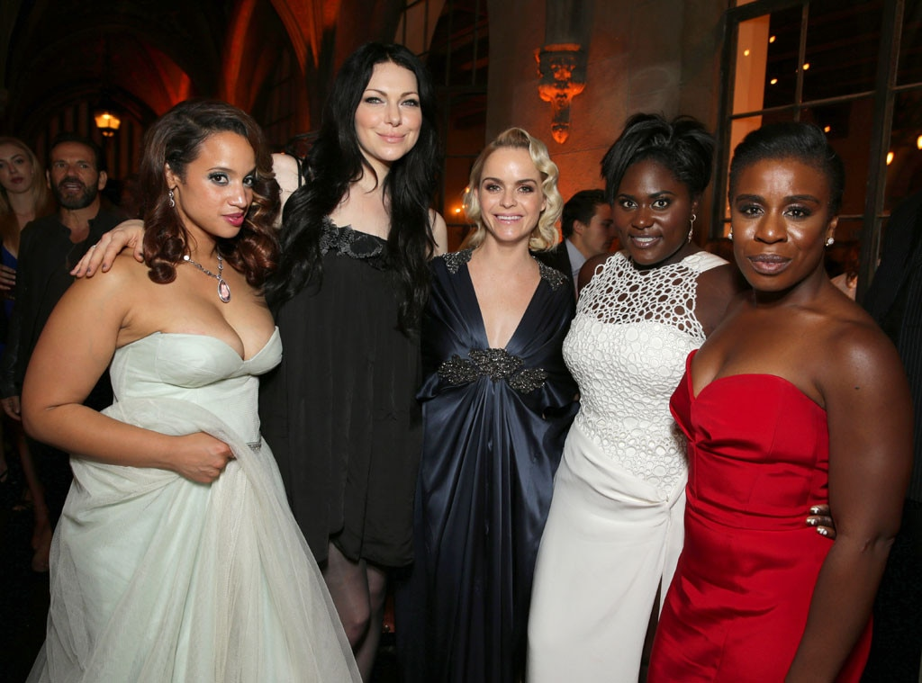 Dashca Polanco, Laura Prepon, Taryn Maning, Danielle Brooks, Uzo Aduba, 2014 Emmy's, Party Pics