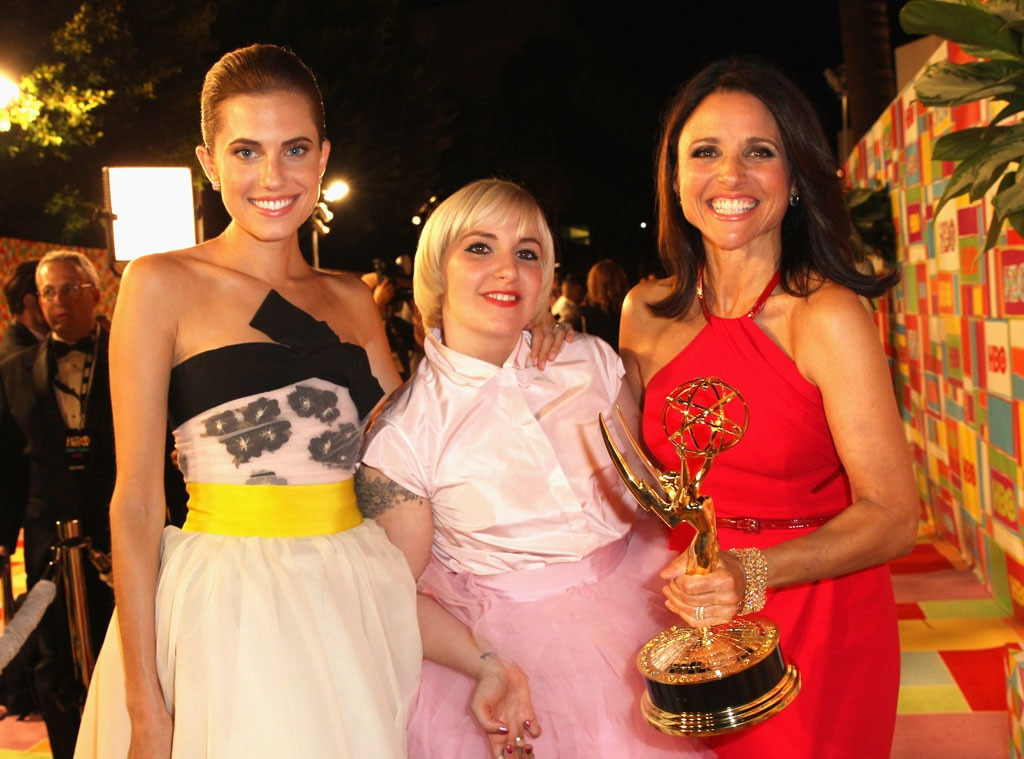 Allison Williams, Lena Dunham, Julia Louis-Dreyfus, 2014 Emmy's, Party Pics