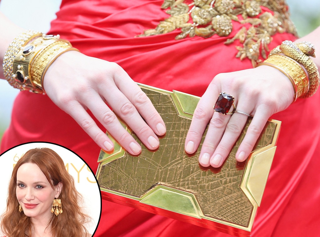 Christina Hendricks, Emmy Awards 2014, Jewelry