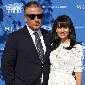 Alec Baldwin, Hilaria Baldwin, US Open Star Sightings