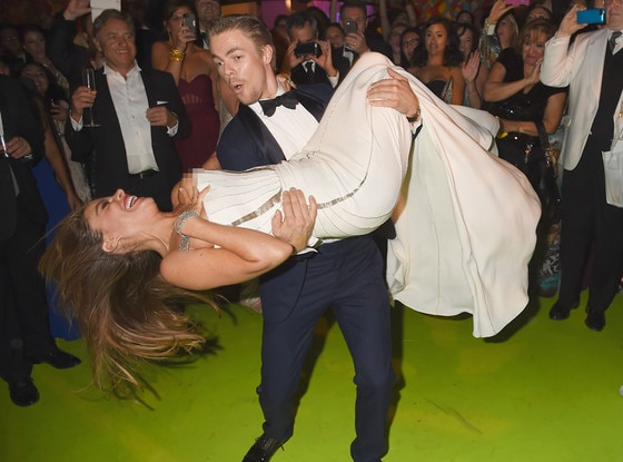 Sofia Vergara, Derek Hough, Sofia Vergara, 2014 Emmy's, Party Pics, Wardrobe Malfunction