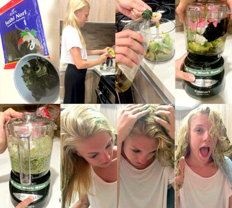 Seaweed Hair Collage