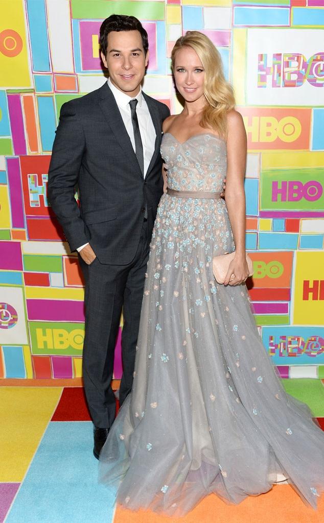 Anna Camp, Skylar Astin, 2014 Emmy's, Party Pics