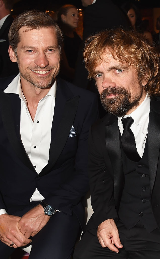 Nikolaj Coster-Waldau, Peter Dinklage, 2014 Emmy's, Party Pics