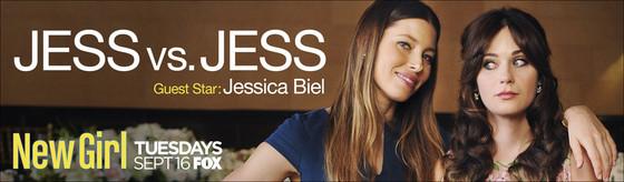 New Girl, Jessica Biel, Zooey Deschanel