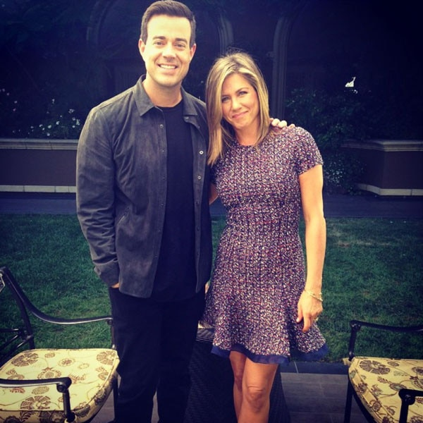 Carson Daly, Jennifer Aniston, Instagram