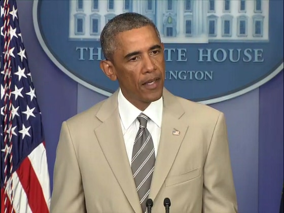 President Barack Obama, Summer Suit
