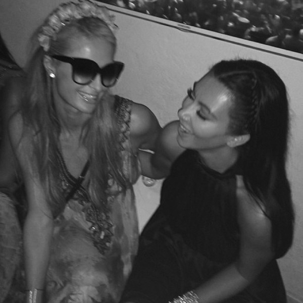 Paris Hilton, Kim Kardashian, Instagram