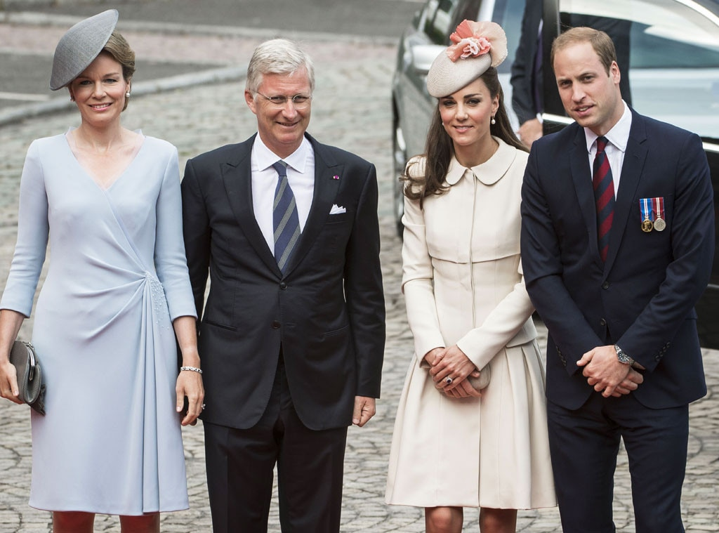 Queen Mathilde, King Philippe, Catherine Duchess of Cambridge, Kate Middleton, Prince William