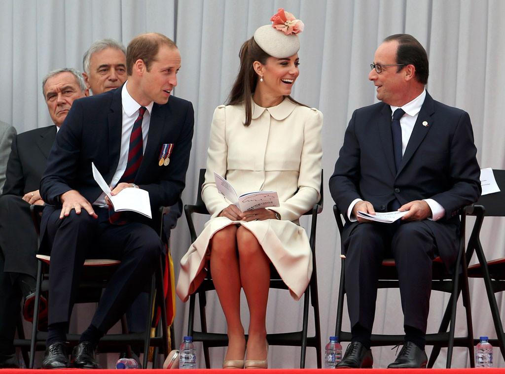 Prince William, Duke of Cambridge, Catherine, Duchess of Cambridge, Kate Middleton, Francois Hollande