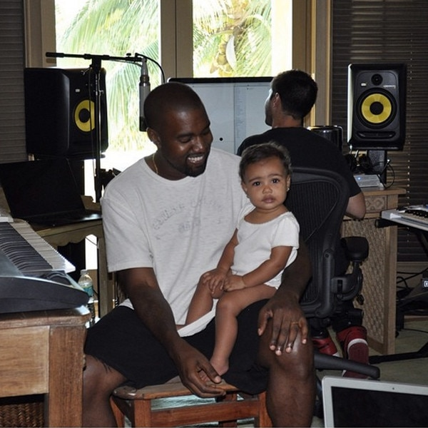 Kanye & North West from Cutest Celeb Kids on Instagram   E ...