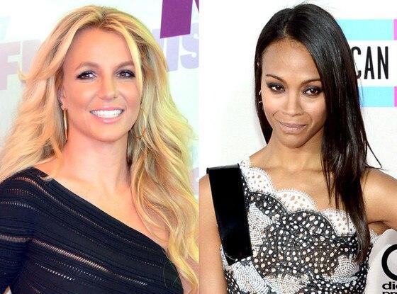 Britney Spears, Zoe Saldana