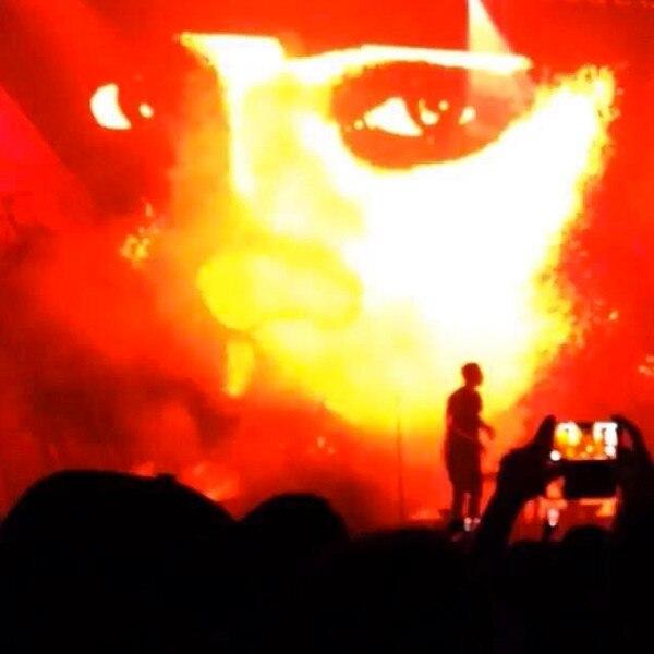Drake concert, Rihanna