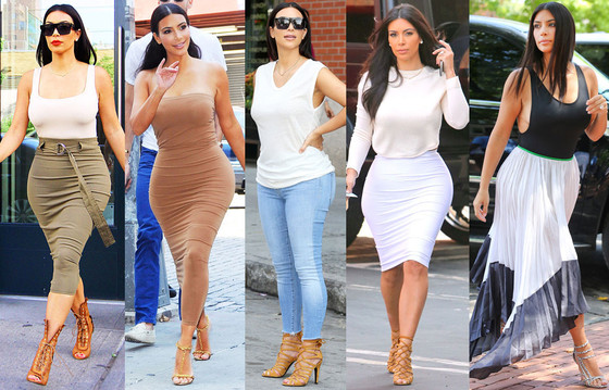 Kim Kardashian Summer Street Style