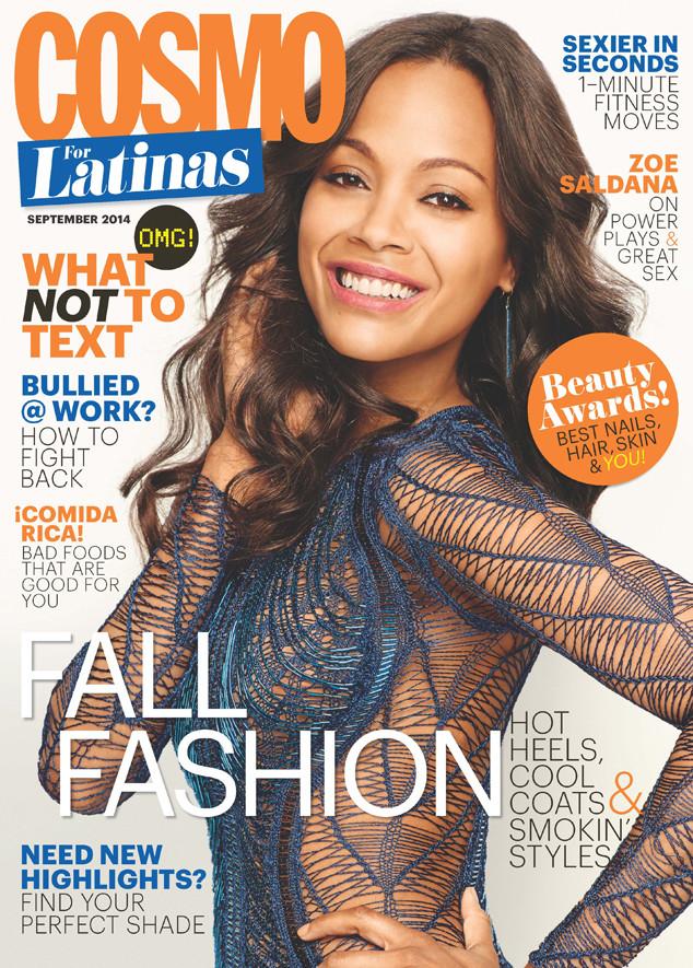 Zoe Saldana, Cosmopolitan for Latinas