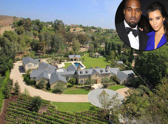 Kim Kardashian, Kanye West, Hidden Hills Estate, House