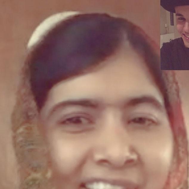Justin Bieber, Malala Yousafzai, Facetime