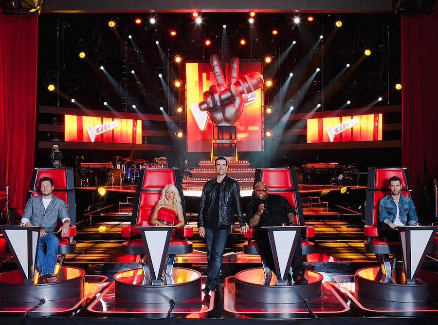The Voice, Blake Shelton, Christina Aguilera, Carson Daly, CeeLo Green, Adam Levine
