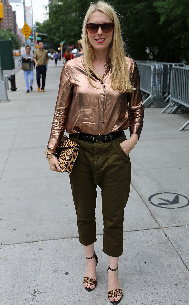 Sarah From New York Fashion Week Spring 2015 Street Style E News