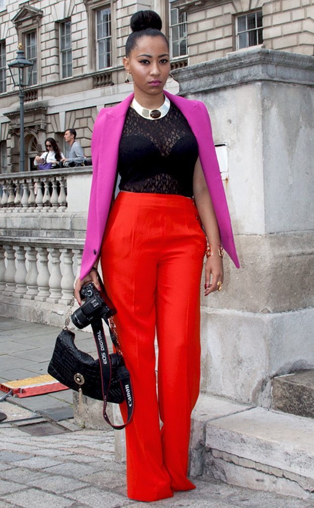 Lucia Lolita From Street Style London Fashion Week Spring 2015 E News