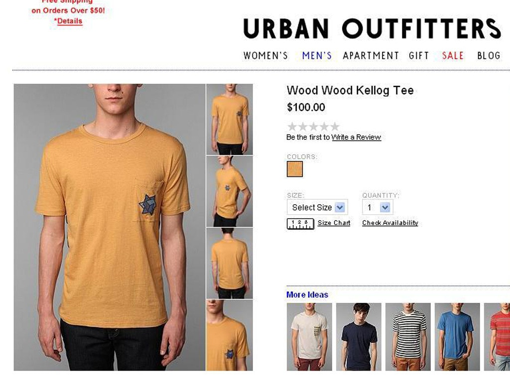 Urban outfitters jewish star t shirt from controversial for Controversial t shirts uk