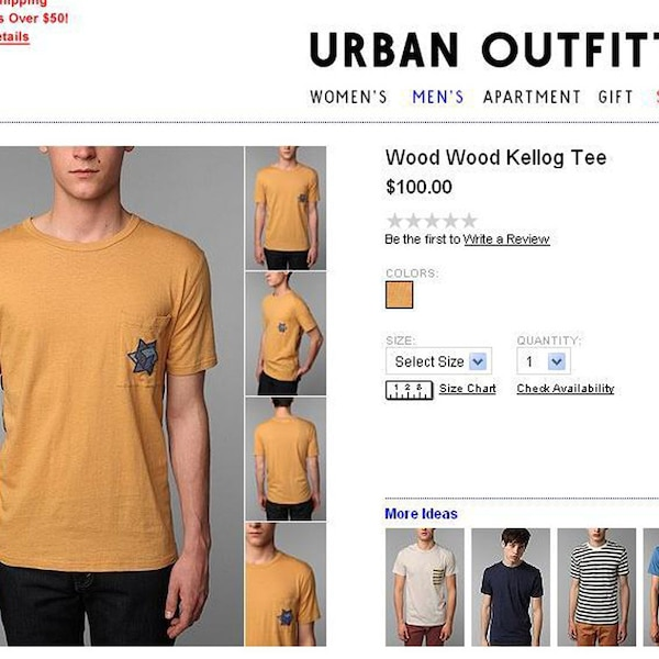 Urban Outfitters Jewish Star T Shirt From Controversial