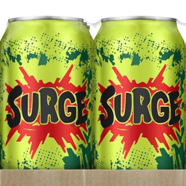 Coca Cola Is Selling Surge Soda Again Because The 90s Are