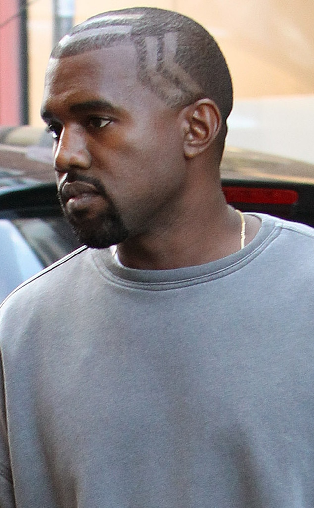 Excellent Kanye West Debuts New Haircutand You39Ve Gotta Take A Closer Look Short Hairstyles Gunalazisus