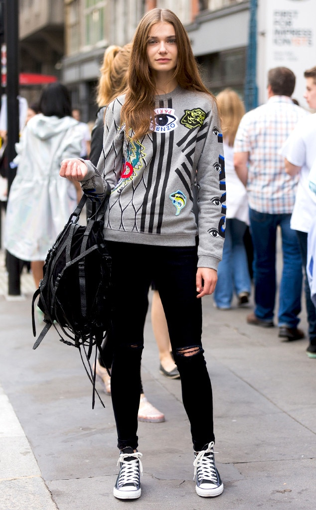 Adrianna Zajdler From Street Style London Fashion Week Spring 2015 E News