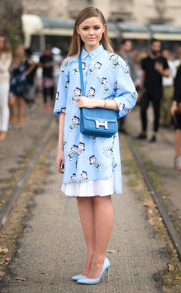 Kristina Bazan From Street Style Milan Fashion Week Spring 2015 E News